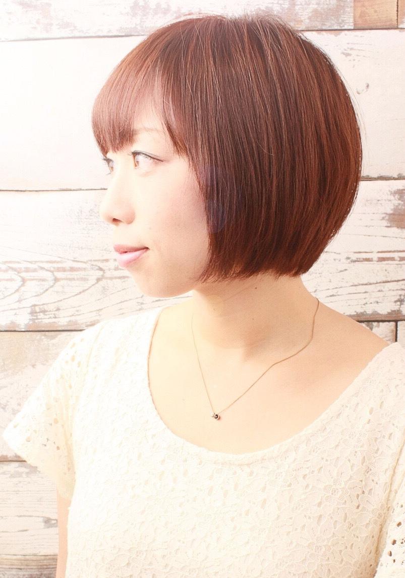 麻生久美子さん風ショートボブ